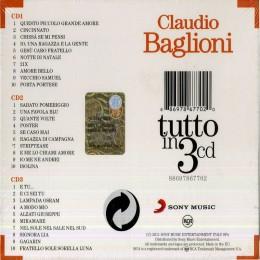 Claudio Baglioni Tutto In 3cd